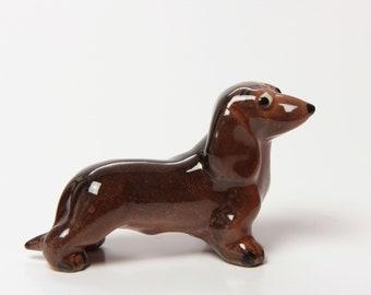 Ceramic Dachshund Schnapsie Dog Figurine by Hagen Renaker