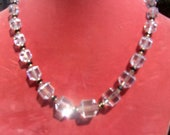 Awesome Vintage 1930s Art Deco Simmons Clear Chrystal Ladies Choker Necklace FREE SHIPPING