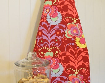 Designer Ironing Board Cover - Amy Butler Love Paradise Garden Wine