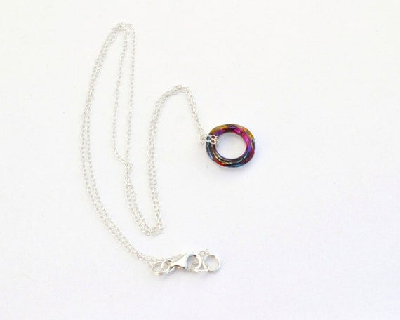 Infinity circle necklace Eternity Pendant Circle necklace