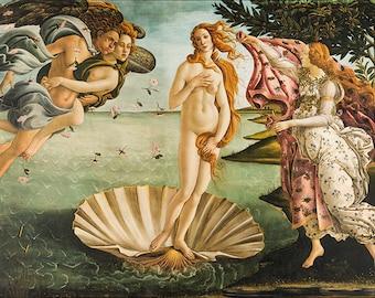 Color Enhanced Print of 1469 Sandro Botticelli - The Birth of Venus 12x18