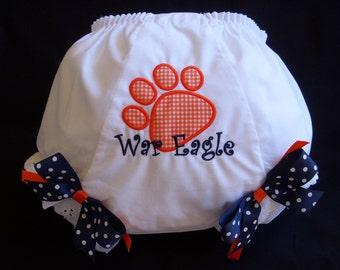 Auburn Fan  Diaper Cover