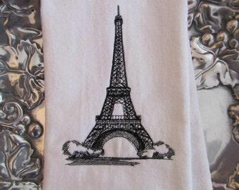 Eiffel Tower - Fingertip Velour Bathroom Towel 11x18 - JD Designs