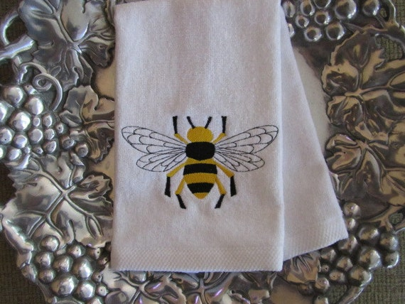 Napoleonic bumble bee fingertip velour bathroom by daniel