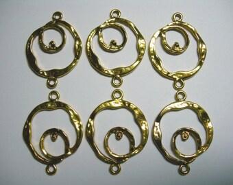Golden Circular loops - links - chandelier findings - 6