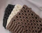 Boot Cuff - THREE pairs - leg warmer, boot socks