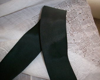 """Real vintage 1"""" wide ray/cotton grosgrain white or black"""
