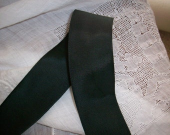 """Real vintage 1 1/2"""" wide ray/cotton grosgrain white or black"""