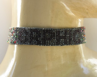"Handmade Loom Beaded ""Orphic"" Choker"