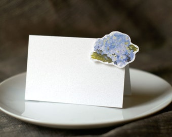 Hydrangea small Tent Cards - Decoration for Events, Weddings, Showers, Dinner Parties, Display