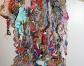 long scarf, a cornucopia of colors and textures and fibers and fabrics