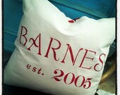 Personalied Canvas Pillows with Chevron Back