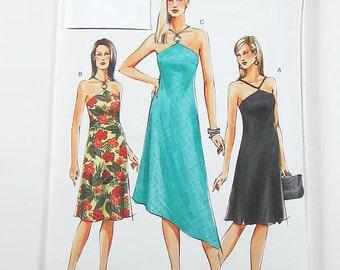 Vogue Dress Pattern V7874 - Misses' Keyhole Dress in 3 Variations - Sz 18/20/22