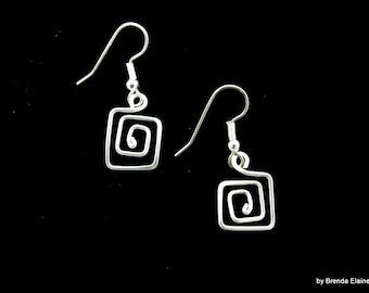 Greek Key Earrings