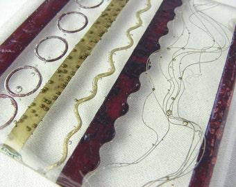 Metal Sampler Fused Glass Coaster Art Tile Coaster