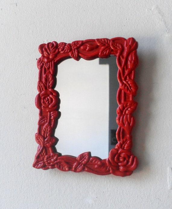 Red Rose Framed Tiny Mirror