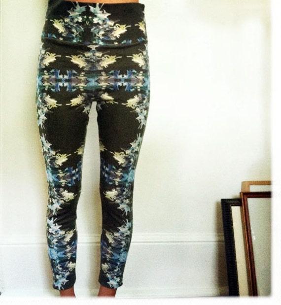 Space Print Organic Cotton Leggings Size  Med