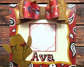 Hand Painted Personalized Cowgirl Picture Frame