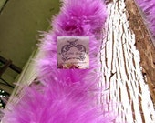 Violet Short Haired Marabou Boa Feathers