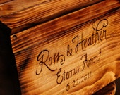 Medium Rustic Personalized Card Box for Wedding Cards with card slot Premium Personalization