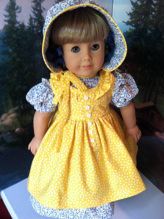 American Girl doll Kirsten in Blue and Yellow
