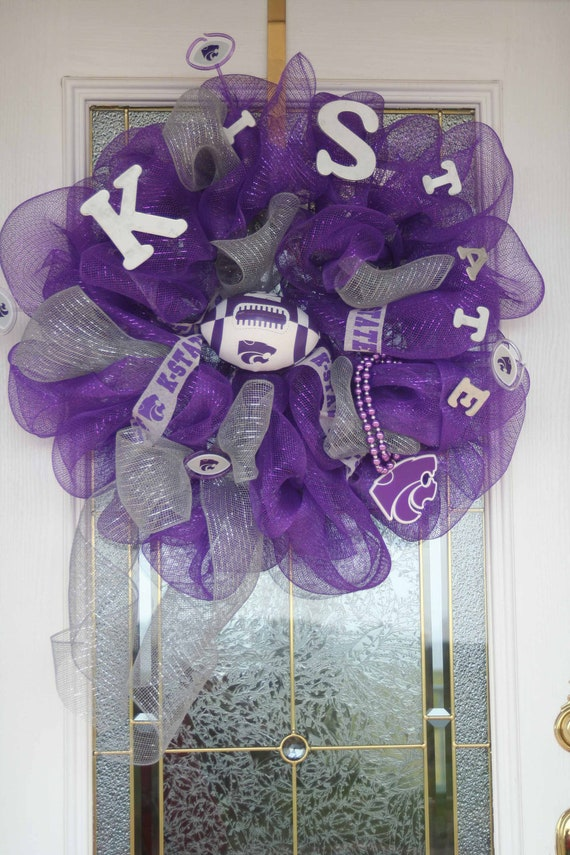 Deco Mesh K-State Wreath