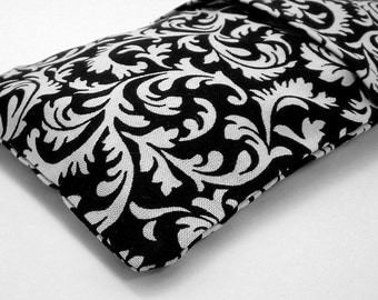 Aromatherapy Eye Pillow with black and white slip cover - lavender, rosemary or chamomile