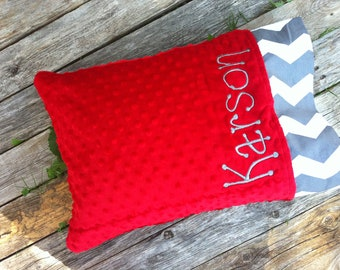 Personalized Travel Pillow Caseover 200 Fabric Choices
