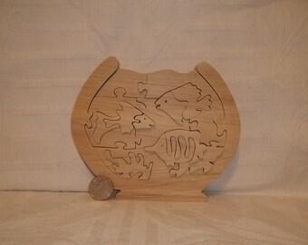 Fish Bowl Puzzle Poplar Hardwood