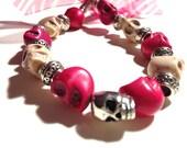 Skull Bracelet with Bow