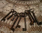Antique Cast Iron Keys on a Metal Ring