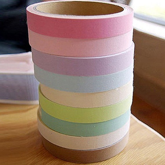 Pastel Colors Adhesive Fabric Tape (0.6in)