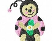 Baby Ladybug Machine Embroidery Design