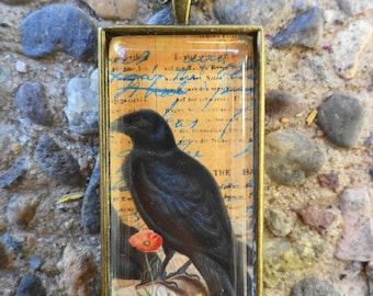 The Peaceful  Crow  Pendant Necklace