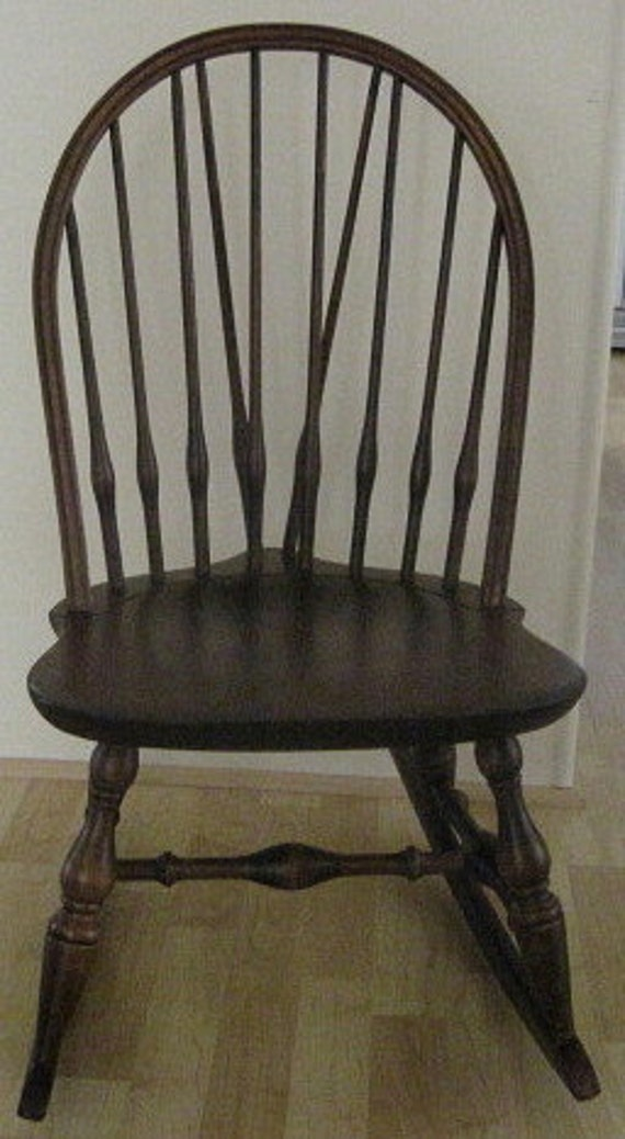 Nichols Stone Brace Back Windsor Rocking Chair
