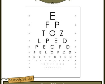 Eye Chart Commercial Use Layered Template Instant Download   Eye Chart  Template