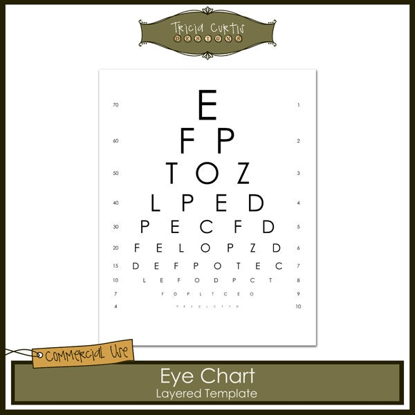 Eye Chart Commercial Use Layered Template Instant Download from – Iq Chart Template