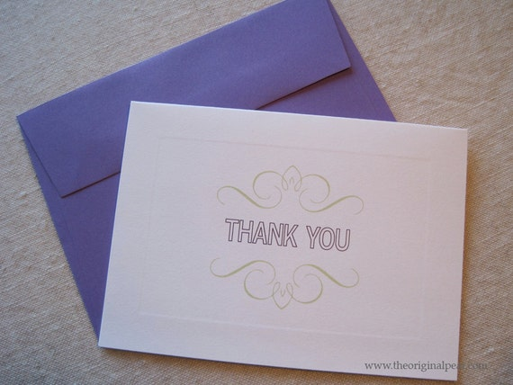 Set of 10, Thank You cards - SALE