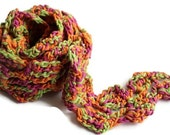 Gift For Her Under 15 - Handmade Crochet Scarf - Colorful