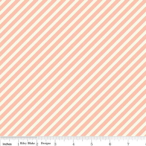 Cynthia Walker / Stitch Studios for Riley Blake - MARGUERITE - Stripe in Pink - 1 yard
