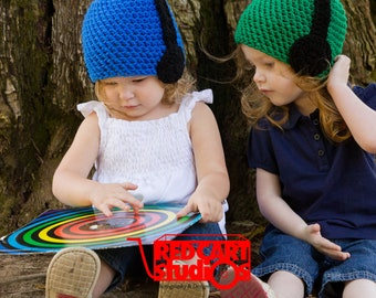Headphone Hat - Any Color - Boys and Girls - Available in 6 sizes