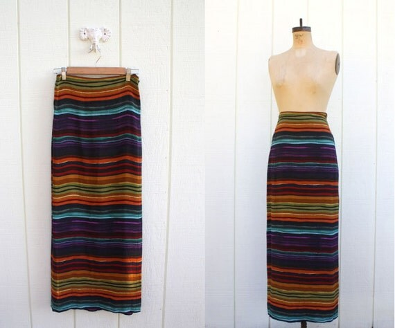 oh the colors in the desert sky // sunset wrap maxi skirt