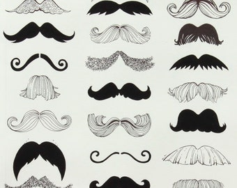 Mustache-  Alexander Henry  1 Yard Fabric