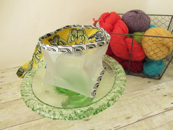 SALE-Clear Wristlet for Knitting and Crochet-Butterfly