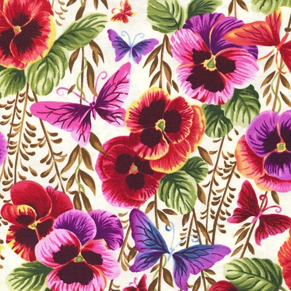 Pansy Party Blank Quilting Closeout Fabric Fat Quarter