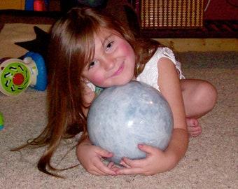 30 pounds 6 ounce Blue Calcite Sphere