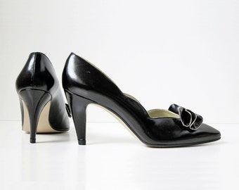 Black Heels/ Bow Shoes/ By Proxy