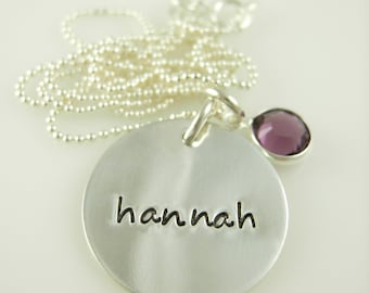 Sterling Silver Hand Stamped Necklace - Hand Stamped Jewelry