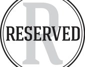 RESERVED for Thierry5050
