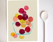 Kitchen Art print - Plums - Summer Fruit Art  / high quality fine art print